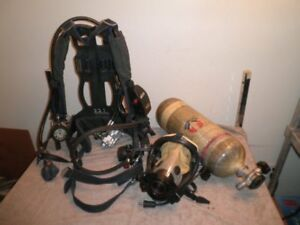 Survivair Panther Scba Set Harness Mask 45 minute Air Tank W hydro Til 2018