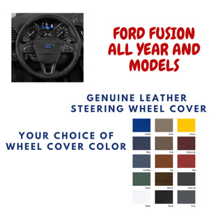 Ford Fusion Wheelskins Leather Steering Wheel Cover Custom Fit Many Colors