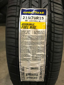 2 New 215 70 15 Goodyear Assurance Fuel Max Tires
