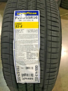 2 New 205 55 16 Goodyear Eagle Rs A Tires