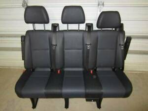 14 18 Mercedes Benz Sprinter Van 3 passenger Black Leather Rear Bench Seat