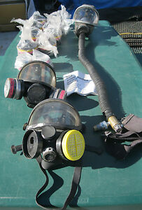 Lot 3 Respirator Plus 8 Optifilter 494228 Plus 2 Msa Filter 460842 Willson l4