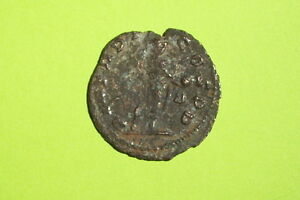 Claudius Ii Gothicus 268 Ad Roman Coin Globe Spear Radiate Old Antique G Good