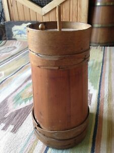 Primitive 1800 S 13 Shaker Style Butter Churn Finger Laps No Dasher