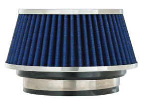 Spectre 8166 Cold Air Intake Cone Filter 3 3 5 4 76 89 102mm Blue Washable