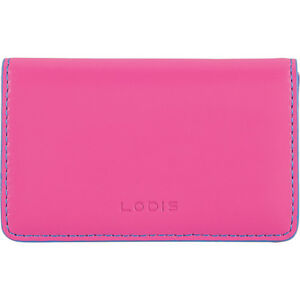 Lodis Audrey Rfid Mini Card Case Hot Pink blue Business Accessorie New