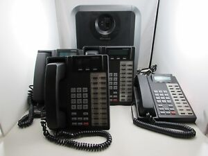 Toshiba Strata Ctx100 Ip Phone System Chsub112a2 4x Phones Dkt2020 sd Etc