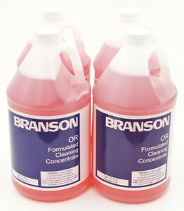 Branson Oxide Remover Solution For Ultrasonic Cleaners 1 Gallon Cap 4pk