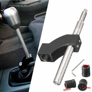 Universal Shift Knob Extender Extension Lever Gear Shifter W 12 10 8mm Adapters