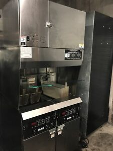 Giles Ventless Hood Fryer Combo Gbf 2 Gvh Restaurant Food Service Commercial