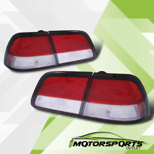 For 1997 1998 1999 Nissan Maxima Gxe Se Gle Red Clear Brake Tail Lights Pair
