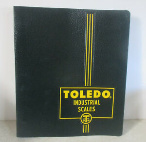 Vintage Toledo Industrial Scales 3 Ring Binder Folder