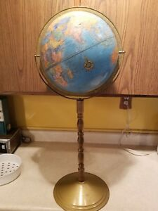 Cram S World Imperial 12 Globe On Wood And Metal Stand 32
