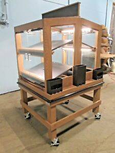 Cms Commercial High End Wooden Led Lighted Dual Serving Side Bakery Merchandiser