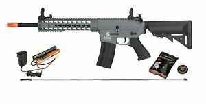 GREY Lancer Tactical GEN2 M4 EVO AEG KEYMOD Airsoft Rifle Gun 9.6 Battery Kit $174.00