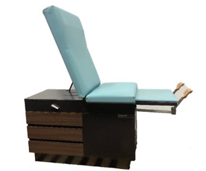 Midmark Ritter 104 Medical Patient Exam Table Lite Blue Obgyn Stirrups