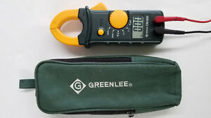 Greenlee Cm 600 Clamp on Multimeter With Case