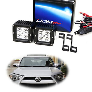A Pillar Ditch Mount Led Pod Light Kit W Bracket Wiring For 14 Toyota 4runner