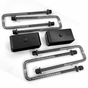 2 Rear Leaf Spring Block U Bolt Lift Kit 2wd Dodge D100 D150 W O Helper Springs
