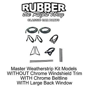 1967 1972 Chevy Gmc Truck Master Weatherstrip Kit Large Back Glass