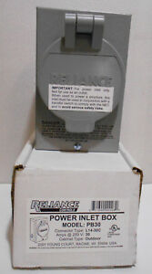 Reliance Controls Pb30 30 Amp Power Inlet Box For L14 30c Connector
