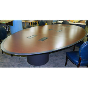 Executive Conference Table 8 X 15 W Six 4 outlet Power Ports Large Solid Wood