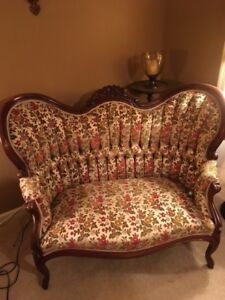 Authentic Style Victorian Love Seats And Arm Chairs By Capitol Furniture Co