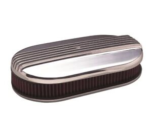 Mooneyes Hot Rod Dual Quad Air Cleaner With Cast Aluminum Finned Top Mp715