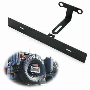 Rear Spare Tire Mount License Plate Relocator Bracket For 07 17 Jeep Wrangler Jk