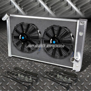 3 Row Aluminum Radiator 2x 12 Fan For 69 72 Chevy Big Block Corvette C3 454