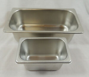 Lot Of 2 Bloomfield Stainless Steel 18 8 Steam Table Pans