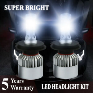 H4 9003 Hb2 2000w 300000lm Led Headlight Bulbs Cob Kit 6000k White Lamps Light