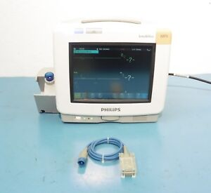 Philips Intellivue Mp5 M8105a Patient Monitor W Philips M1943a Spo2 Cable
