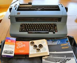 Ibm Blue Selectric Ii Correcting Typewriter With Accessories Recently Serviced