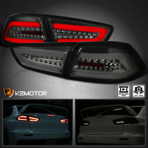 Smoke Mitsubishi 2008 2017 Lancer 08 15 Evo X Full Led Rear Brake Tail Lights
