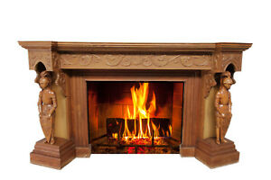 Unique French Gothic Fireplace Mantel With Knights Oak 1920 S