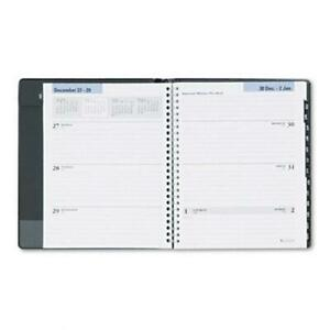 At a glance G54500 Executive Weekly monthly Ruled Planner 6 7 8 X 8 3 4 Black