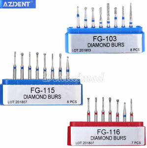 Az Dental Diamond Burs Fg 103 115 116 Minimally Invasive Cavity Preparation Kit
