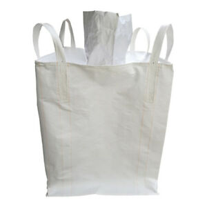 1 5 Tonnes Fibc Bulk Bag Builders Landscape Bag Rubble Waste Sack Top Closed