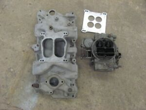 Edelbrock Performer Intake W 1850 Holley Carb 283 327 350 Chevy 2101 Aluminum