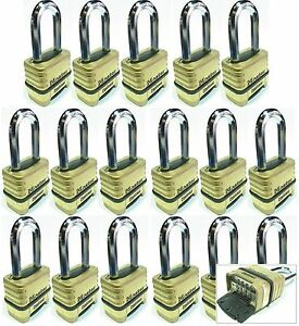 Combination Lock Set Master 1175lh lot 17 Resettable Long Brass Sealed Carbide