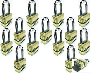 Combination Lock Set Master 1175lh lot 13 Resettable Long Brass Sealed Carbide