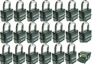 Combination Lock Set By Master 1178d lot 20 Resettable Weather Sealed Carbide