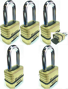 Combination Lock Set Master 1175lh lot 5 Resettable Long Brass Sealed Carbide
