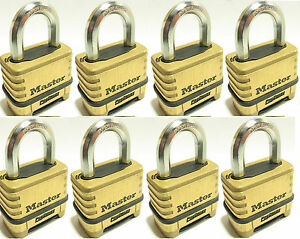 Combination Lock Set By Master 1175 lot Of 8 Resettable Brass Sealed Carbide