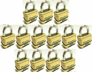 Combination Lock Set By Master 1175 lot Of 13 Resettable Brass Sealed Carbide