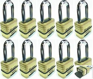 Combination Lock Set Master 1175lh lot 10 Resettable Long Brass Sealed Carbide