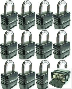 Combination Lock Set By Master 1178d lot 12 Resettable Weather Sealed Carbide
