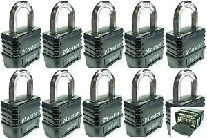 Combination Lock Set By Master 1178d lot 10 Resettable Weather Sealed Carbide