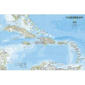 National Geographic Maps Re01020619 Caribbean Classic Wall Map Laminated